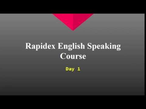 RAPIDEX ENGLISH SPEAKING COURSE HINDI TO ENGLISH