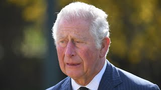 video: A tearful Prince Charles makes first public engagement since Prince Philip's death as he inspects flowers and tributes