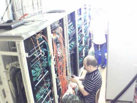 Network Room Recabling Time Lapse