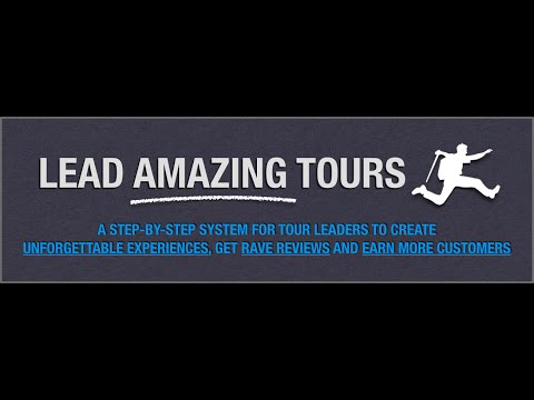 The Lead Amazing Tours Online Coaching Program - Training for Tour Guides! Invitation