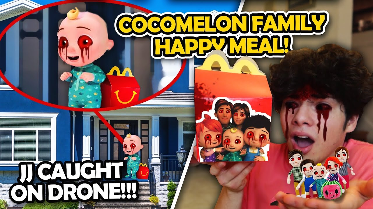 DO NOT ORDER THE CREEPY COCOMELON HAPPY MEAL FROM MCDONALD'S!! (JJ CAUGHT ON DRONE)