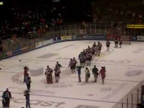 Muskegon Fury celebrate the 2005 UHL Colonial Cup