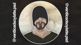 Versión de dibujos animados de Fotos Reales de Uso de Photoshop CC - Photoshop Arte Timelapse