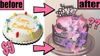 DIY BIRTHDAY CAKE MAKEOVER!