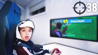 My 6 Year Old Little Brother Turned Into The Skull Trooper Skin In Real Life & Played Fortnite!
