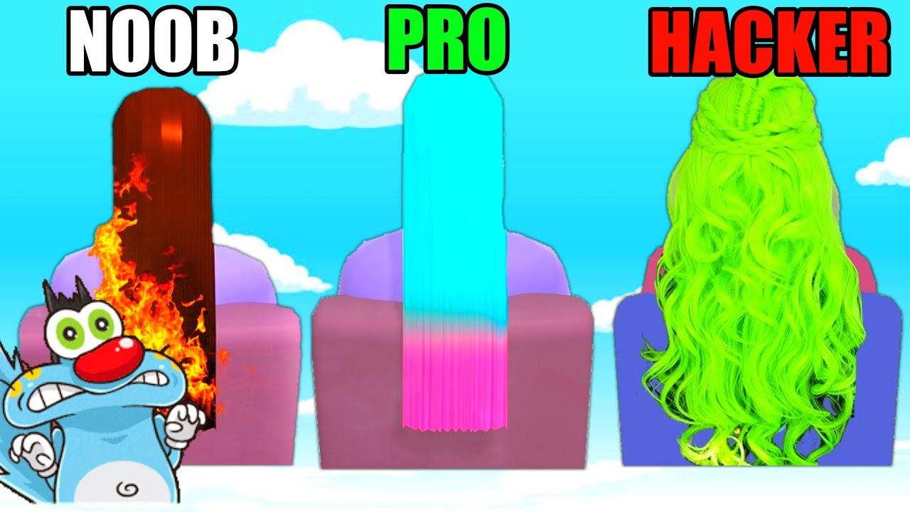 NOOB vs PRO vs HACKER   In Hair Dye   With Oggy And Jack   Rock Indian Gamer  