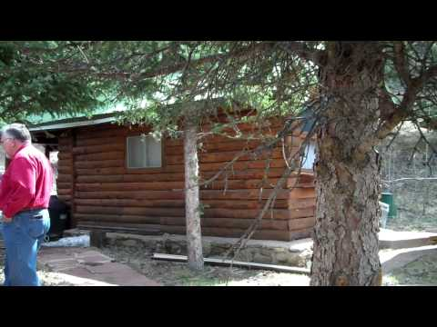 Log Cabins for sale on the Upper Pecos River, Cowles, New Mexico