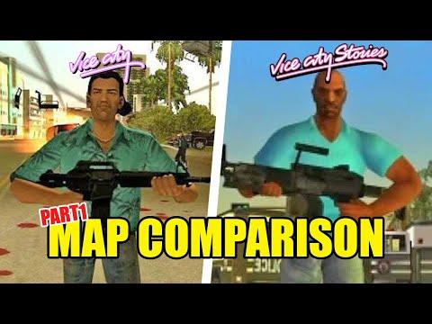 GTA Vice City vs. Vice City Stories - Map Comparison Pt. 1