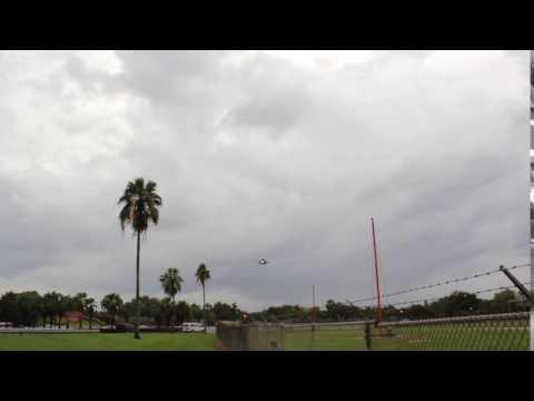 Thuderbirds aproaching runway. at Luis Muñoz Marin Airport.