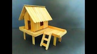 Cara Membuat Miniatur Rumah Panggung Sederhana Dari Stik Es Krim