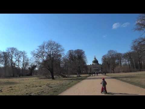 Walking in Sanssouci Park, Potsdam, Germany.