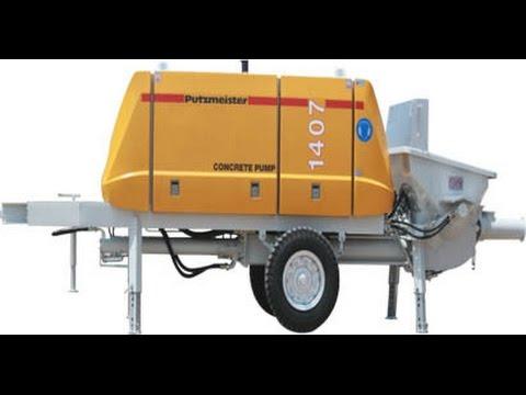 How a Concrete Pump Works || Putzmeister Concrete Pump || How a Concrete  Pump Clean