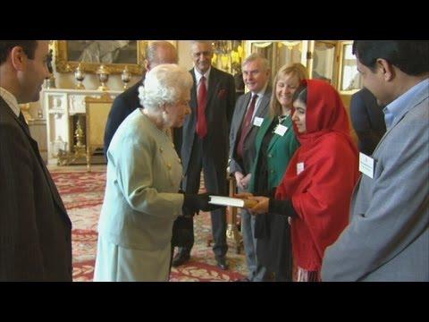 Malala Yousafzai meets the Queen