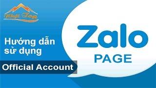 [NHẬT TOP SEO] Hướng dẫn sử dụng Zalo Official Account ZOA 2016