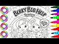 Colouring Drawings Strawberry Shortcake Berry Big Help in Sparkle Shoes Coloring Pages