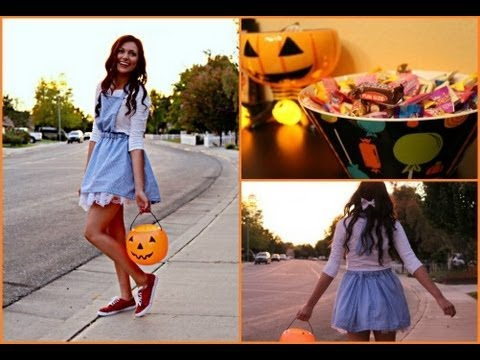 Adorable Dorothy DIY Costume! + Glitter your shoes!  sc 1 st  YouTube & Adorable Dorothy DIY Costume! + Glitter your shoes! - YouTube