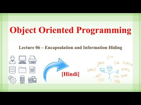 Lecture 6 - Encapsulation and Information Hiding| OOP Concepts in Hindi  [Hindi]
