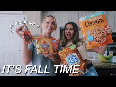 getting into the fall spirit! (trying pumpkin flavored food)