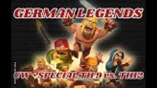GERMAN LEGENDS ( Clankrieg Nr.9 / Teil 1)CLASH OF CLANS /CW + TROPHY PUSH / POKIJAGD /DEUTSCH/GERMAN