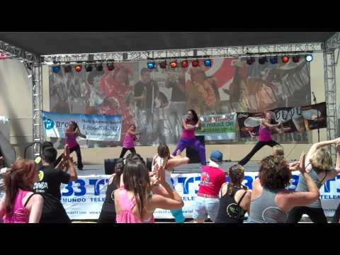 San Diego's Zumba Instructor Ninfa Skezas and team Performing at Del Mar Fair 2010 ( Waka Waka)