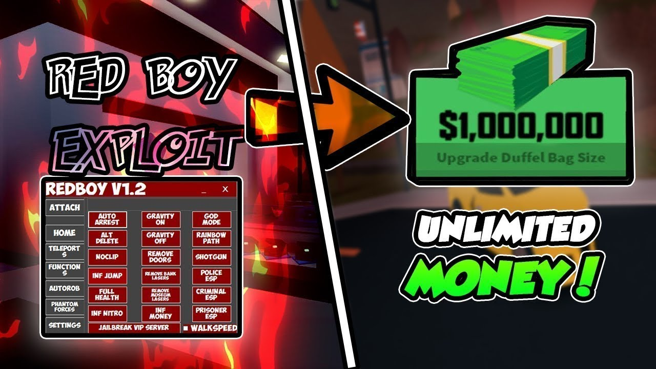 New Roblox Exploit Redboy V1 7 With Autoarrest Noclip Inf