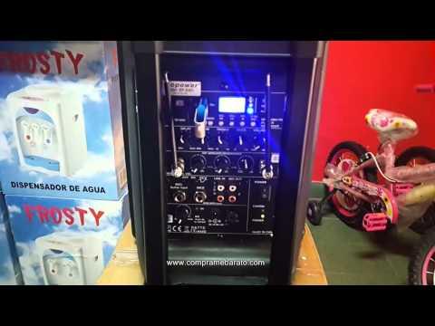 Caja Karaoke Ecopower Bluetooth