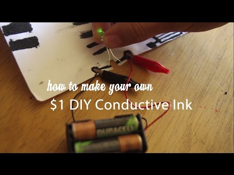 $1 DIY Conductive Ink and Paint (Non Toxic, homemade, cheap!)
