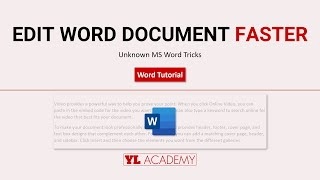 Tricks to Edit MS Word Document Faster