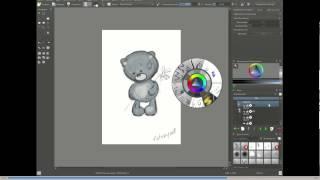Как нарисовать мишку Тедди. Рисование в программе Krita