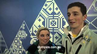 Ice Dance pair thrilled with Sochi PB