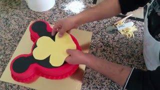 Micky Mause Temalı Pasta Yapımı-Mickey Mouse Gateau [HD]