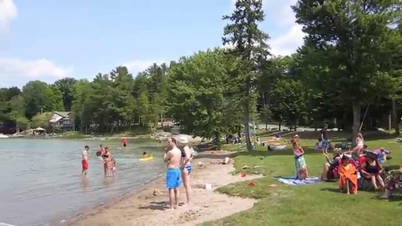 Sandy Lake Beach Tour Buckhorn Ontario Youtube