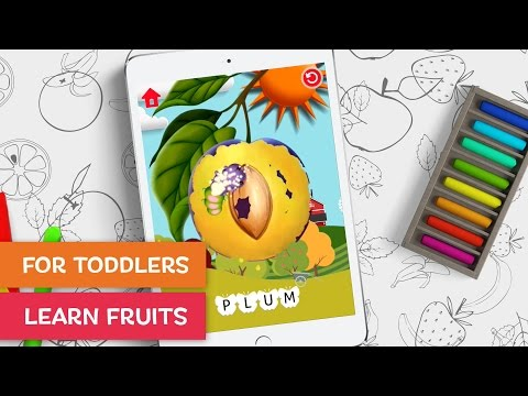 Moona Puzzle 'Fruits And Berries' - Interactive Flash Cards For Toddlers