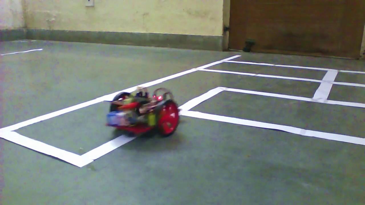 Line Follower Bot Atmega 8 Youtube Atmega16 Robot