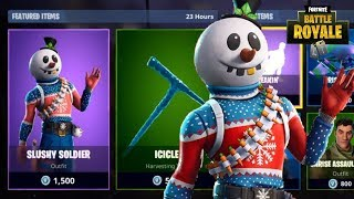 NOUVEAU SLUSHY SOLDIER SKIN - ICICLE PICKAXE NEW FORTNITE ITEM SHOP UPDATE