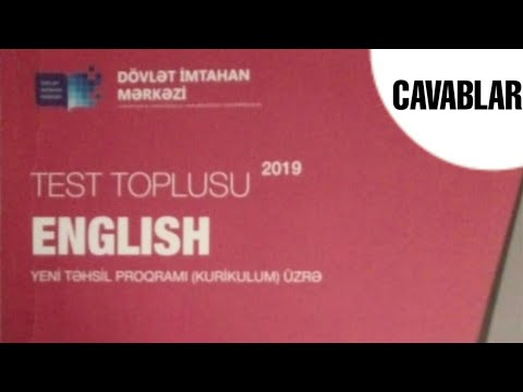 Ingilis Dili Yeni 2019 Test Toplusu 1 Ci Hissə Cavablar Hd Youtube