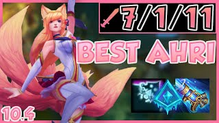 How To Charm Your Way To Rank 1 On AHRI :* | S8/S9 Grandmaster Mid Lane Full Game Commentary 10.4