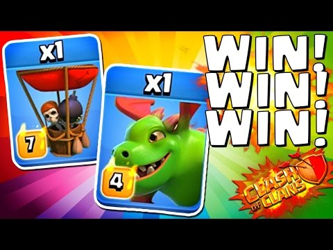 Clash of Clans :: Max Baby Dragon + Balloon Attacks!
