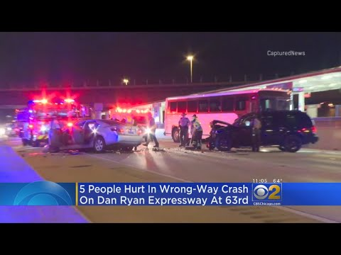 Police: 5 Injured In Drunken Wrong-Way Crash On Dan Ryan