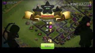Tratando de ganar con todo montapuercos en clash of clans