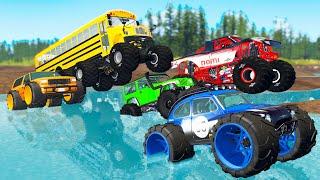 Monster Trucks Mud Battle #1 - Beamng drive