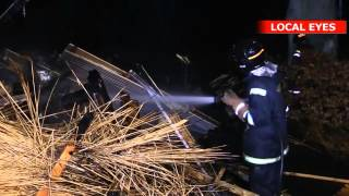 Hus brændte ned i nat - i bogstavelig forstand.