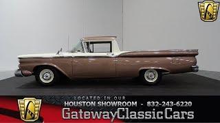 1959 Ford Ranchero Gateway Classic Cars Stock #900 Houston Showroom