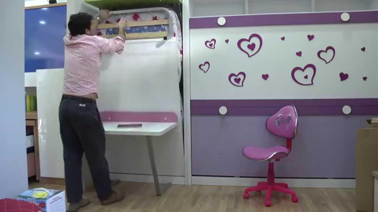 Muebles parchis video explicativo funcionamiento cama - Muebles con cama plegable ...