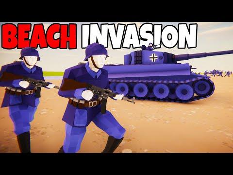 Largest German Army BEACH INVASION Ever! - Total Tank Simulator: Battle Simulator  