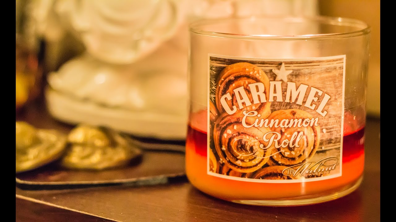 719 Walnut Avenue Caramel Cinnamon Roll Candle Review ...