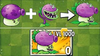 Fume-Chomper LEVEL 1000 Power Up in Plants vs Zombies 2