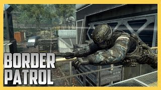 Border Patrol on DRONE in BLACK OPS 2! Runners vs Snipers!