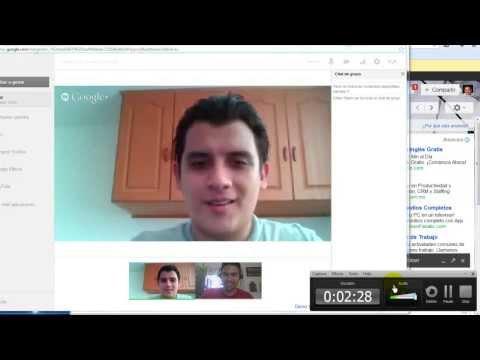 Como hacer video chat conferencias con Google Hangout - Usando Gmail, Google Talk & Google +