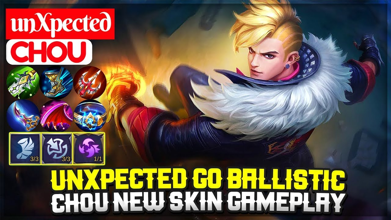 unXpected Go Ballistic, Chou New Skin Gameplay [ Top Global Chou